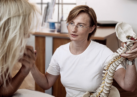 Dr. Birgit Mayr, specialist for slipped discs